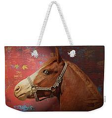 Horse Texture Portrait Weekender Tote Bag