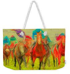 Horse Tracking Weekender Tote Bag