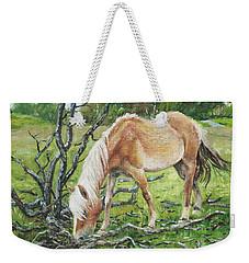 Horse With Burnt Tree Weekender Tote Bag