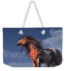 Horse With War Paint Weekender Tote Bag by Daniel Eskridge