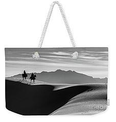 Horseback At White Sands Weekender Tote Bag