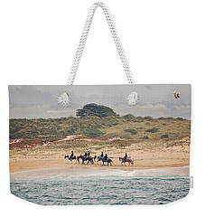 Horseback Riding On The Beach Weekender Tote Bag