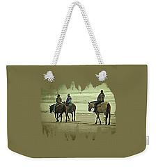 Horseback Riding On The Beach Weekender Tote Bag by Thom Zehrfeld