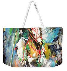 Horse,horseman And The Target Weekender Tote Bag by Khalid Saeed