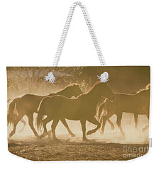 Horses And Dust Weekender Tote Bag by Ana V Ramirez