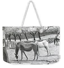 Horses And Trees In Bloom Weekender Tote Bag