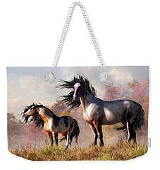 Horses In Fall Weekender Tote Bag by Daniel Eskridge