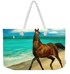 Horses In Paradise  Dance Weekender Tote Bag