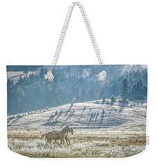 Horses In The Frost Weekender Tote Bag