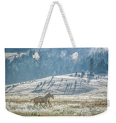 Horses In The Frost Weekender Tote Bag by Keith Boone