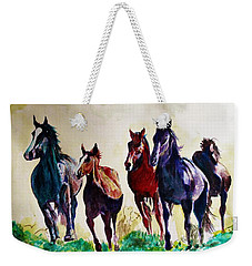 Horses In Wild Weekender Tote Bag