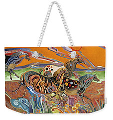 Horses Of The Ardeche Valley France Weekender Tote Bag