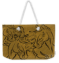 Horses Three Weekender Tote Bag