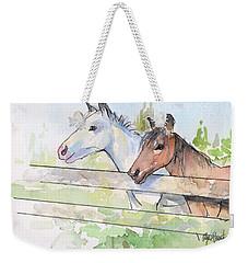 Horses Watercolor Sketch Weekender Tote Bag