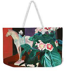 Horses With Floral Weekender Tote Bag