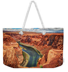 Weekender Tote Bag featuring the photograph Horseshoe Bend Arizona - Colorado River #2 by Jennifer Rondinelli Reilly - Fine Art Photography