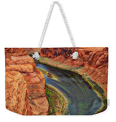 Weekender Tote Bag featuring the photograph Horseshoe Bend Arizona - Colorado River #3 by Jennifer Rondinelli Reilly - Fine Art Photography