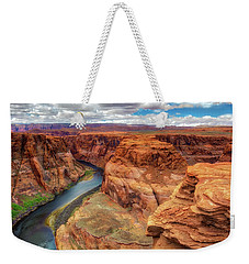 Weekender Tote Bag featuring the photograph Horseshoe Bend Arizona - Colorado River $4 by Jennifer Rondinelli Reilly - Fine Art Photography