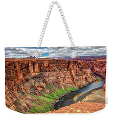 Weekender Tote Bag featuring the photograph Horseshoe Bend Arizona - Colorado River #5 by Jennifer Rondinelli Reilly - Fine Art Photography