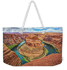 Weekender Tote Bag featuring the photograph Horseshoe Bend - Colorado River - Arizona by Jennifer Rondinelli Reilly - Fine Art Photography