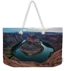 Weekender Tote Bag featuring the photograph Horseshoe Bend by Margaret Pitcher