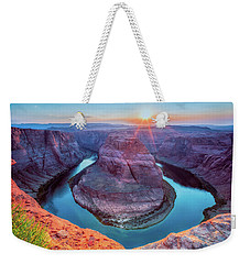 Horseshoe Bend Sunset Weekender Tote Bag by David Cote