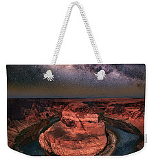 Horseshoe Bend With Milkyway Weekender Tote Bag