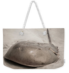 Weekender Tote Bag featuring the photograph Horseshoe Crab by Chris Bordeleau