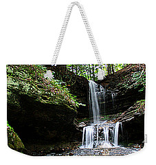 Weekender Tote Bag featuring the photograph Horseshoe Falls #6736 by Mark J Seefeldt