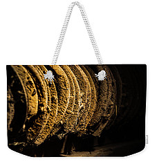 Weekender Tote Bag featuring the photograph Horseshoes by Jay Stockhaus