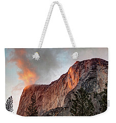 Horsetail Falls Cloudy Sunset Weekender Tote Bag