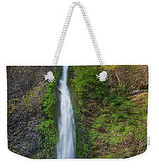 Weekender Tote Bag featuring the photograph Horsetail Falls In Spring by Greg Nyquist