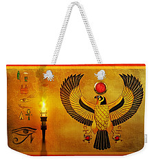 Horus Falcon God Weekender Tote Bag