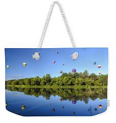 Quechee Balloon Fest Reflections Weekender Tote Bag