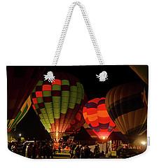 Hot Air Balloons At Night October 28, 2017 #1 Weekender Tote Bag