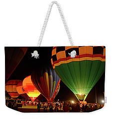 Hot Air Balloons At Night October 28, 2017 #2 Weekender Tote Bag