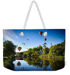 Hot Air Balloons In Queechee 2015 Weekender Tote Bag by Jeff Folger