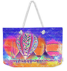 Hot Air Balloons Night Festival In Pastel Weekender Tote Bag
