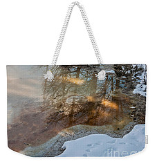 Hot And Cold In Yellowstone Weekender Tote Bag by Sue Smith