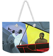 Hot And Cool Jazz Weekender Tote Bag by Kaaria Mucherera