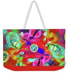 Weekender Tote Bag featuring the digital art Hot Candy by Menega Sabidussi