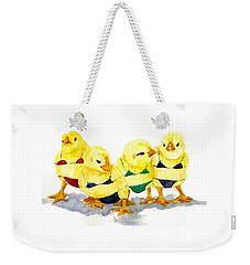 Hot Chicks...henpecking Not Allowed Weekender Tote Bag
