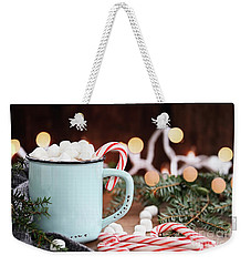Hot Cocoa With Marshmallows And Candy Canes Weekender Tote Bag by Stephanie Frey