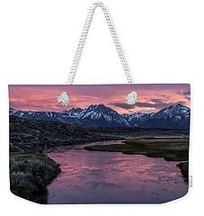 Hot Creek Sunset Weekender Tote Bag