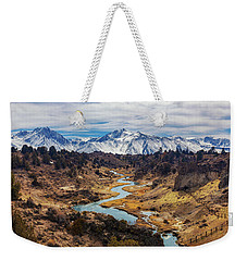 Weekender Tote Bag featuring the photograph Hot Creek by Tassanee Angiolillo