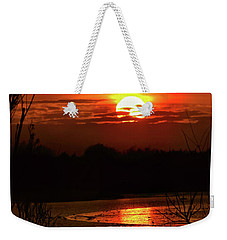 Weekender Tote Bag featuring the photograph Hot Hot Hot by Laura Ragland