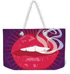 Hot Lips Weekender Tote Bag