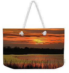 Weekender Tote Bag featuring the photograph Hot Mud Flats by Laura Ragland