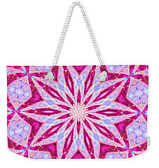 Hot Pink And Blue Weekender Tote Bag by Shirley Moravec