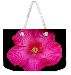 Weekender Tote Bag featuring the photograph Hot Pink Hibiscus by Sue Melvin